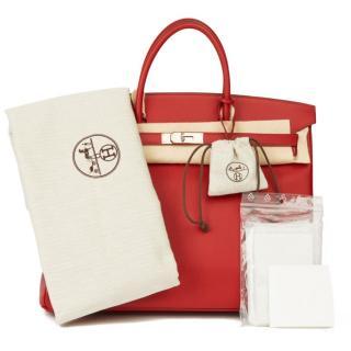Hermes Epsom Leather 40cm Red Birkin