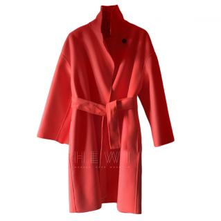 Marella Unlined Red Double Breasted Coat