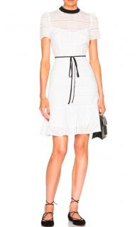 Erdem Anne White Cotton Dress