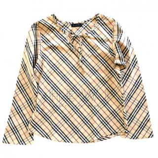 Burberry Girl's House Check Top