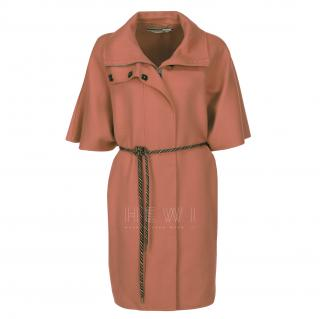 Max Mara Virgin Wool Camel Cape Coat