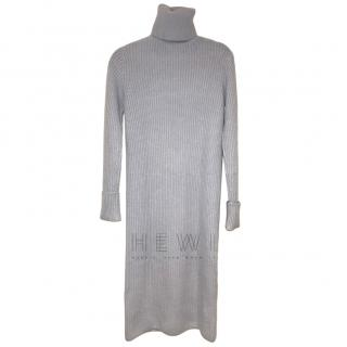 Loro Piana Baby Cashmere Knit Roll Neck Dress