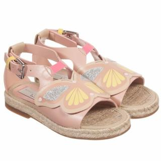Stella McCartney Kid's Pink Faux Leather 'Bop' Butterfly Sandals