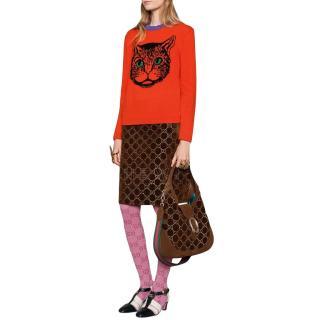Gucci Mystic Cat Intarsia Wool Sweater