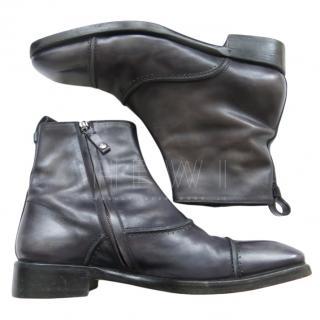 Berluti Grey Men's Ankle Boots