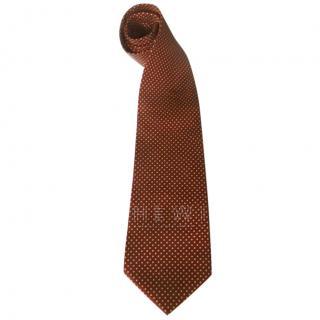 Valentino Men's Micro Polka-Dot Silk Tie