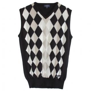 Burberry Merino Wool Diamond Knit Vest