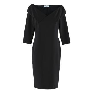 Blumarine Black Fitted Dress