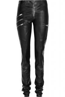 Joseph Black Leather Mid Rise Leggings