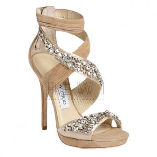 Jimmy Choo Kani Suede Embellished Sandals