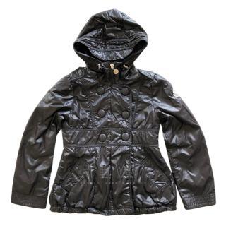 Moncler Girl's 10 Years Black Rain Jacket