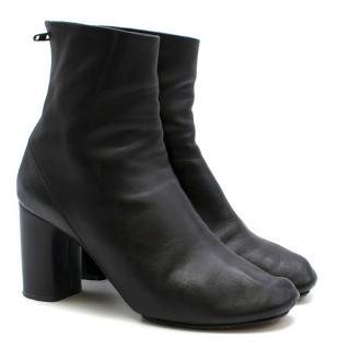 Celine Black Block Heeled Ankle Boots