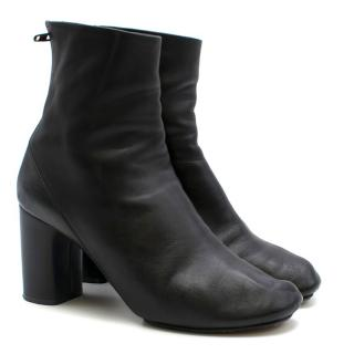 Celine Black Block Heeled Ankle Boots