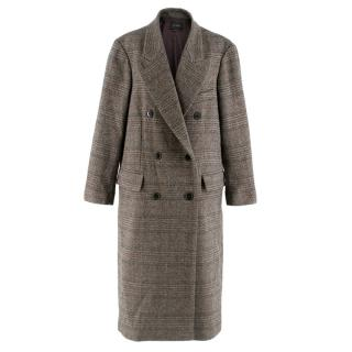 Isabel Marant double breasted wool check coat