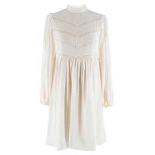 Zimmermann silk white high neck mini dress