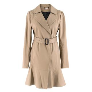 Diane Von Furstenberg camel cotton trench coat