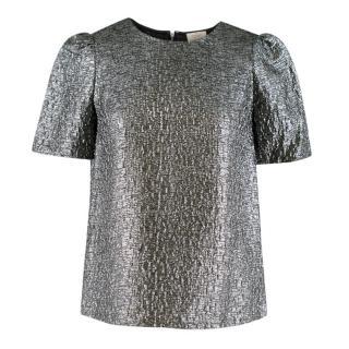 Kate Spade Metallic Silver Blouse