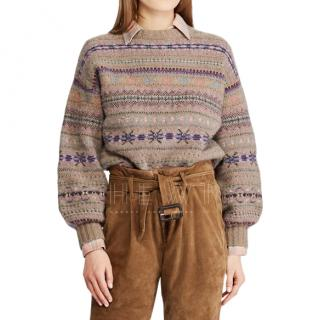 Polo Ralph Lauren Fair Isle wool-and-cashmere-blend sweater