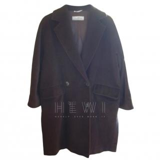 Max Mara Brown Wool Blend Coat