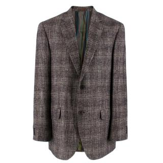 Etro single breasted check jacket