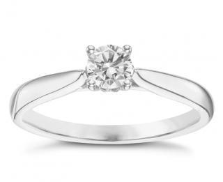 Bespoke 0.33ct Diamond Solitaire White Gold Ring