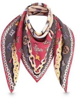 Louis Vuitton Carre Pop MNG Silk Scarf
