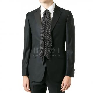 Saint Laurent Men's Polka Dot Silk Cravat
