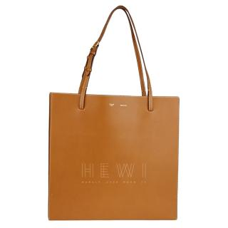 Celine Tan Leather Triple Shopper Tote