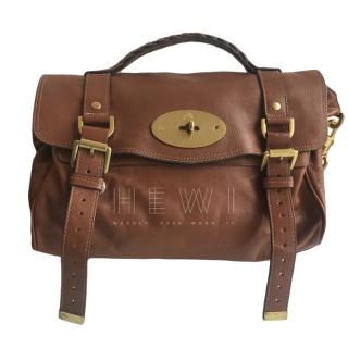 Mulberry Tan Alexa Satchel