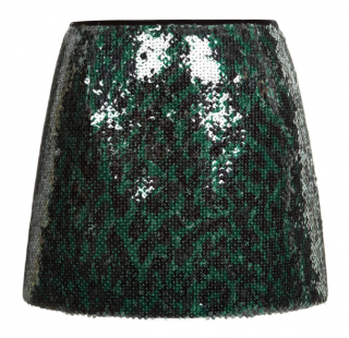 Marc Jacobs Emerald green leopard sequin skirt