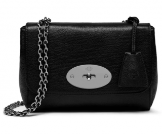 Mulberry Black Goat Leather Small Lily Bag