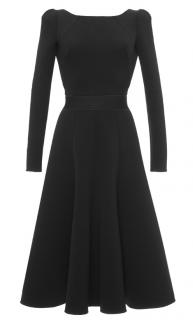 Dolce & Gabbana Techno Double Crepe Backless Midi Dress
