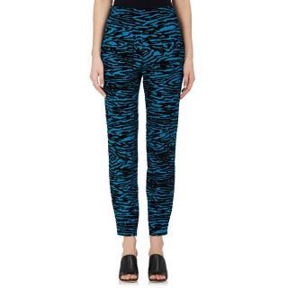 Proenza Schouler Flocked Skinny-leg Pants in Blue