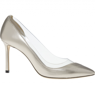 Jimmy Choo Leather Romy 85 Plexi Pumps