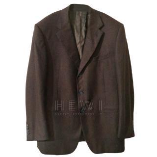 Gianfranco Ferre brown cashmere blazer