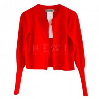 Sportmax Red Knit Cardigan