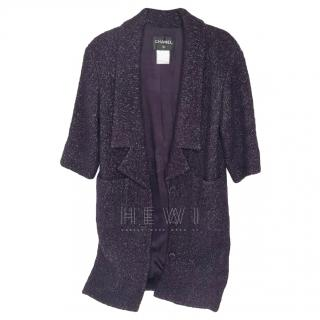 Chanel purple alpaca coat