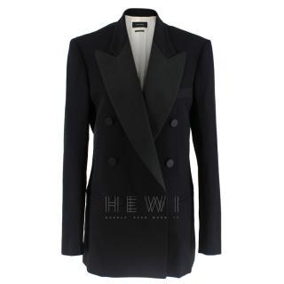 Isabel Marant Black Double-breasted Wool Tuxedo Jacket