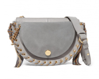 See By Chlo� Kriss Small Eyelet-embellished Textured-leather Crossbody