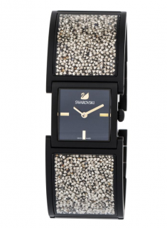 Swarovski Black Crystalline Bangle Watch