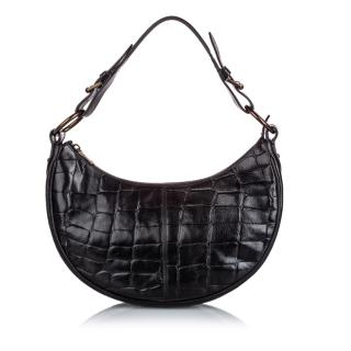 Mulberry Croc Embossed Leather Shoulder Bag