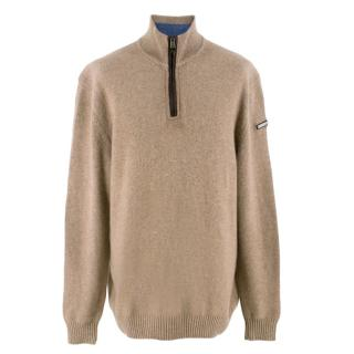 Paul and Shark Beige Cashmere Pullover Jumper