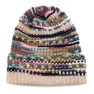 Missoni Knit Beige Multicolored Beanie