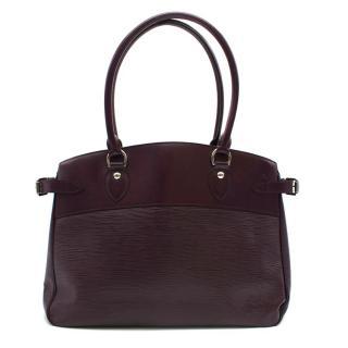 Louis Vuitton Burgundy Passy GM Epi Leather Bag