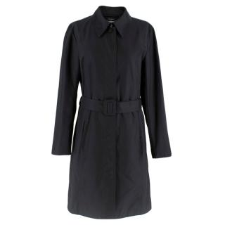 Chanel Black Belted Lightweight Trench Coat