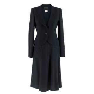 Chanel Navy Tailored Classic Jacket & Skirt