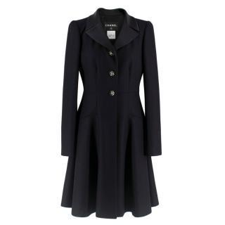 Chanel Black Fit & Flare Dress Coat