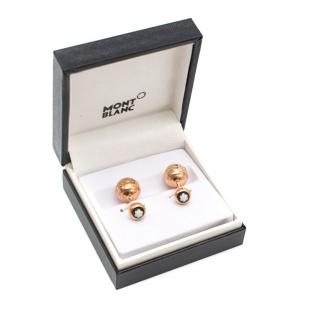 Mont Blanc Rose Gold Cuff Links
