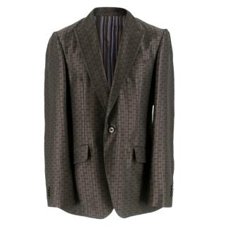 Etro Brown Single Breasted Printed Jacket