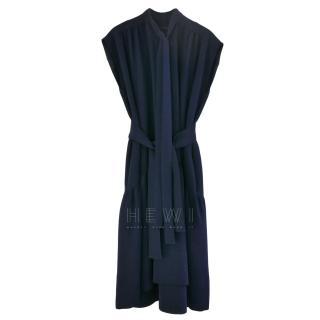 Eden Choi navy open back detail dress